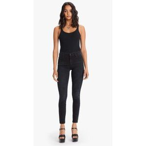 MOTHER The High Waisted Looker Ankle Fray Jeans
